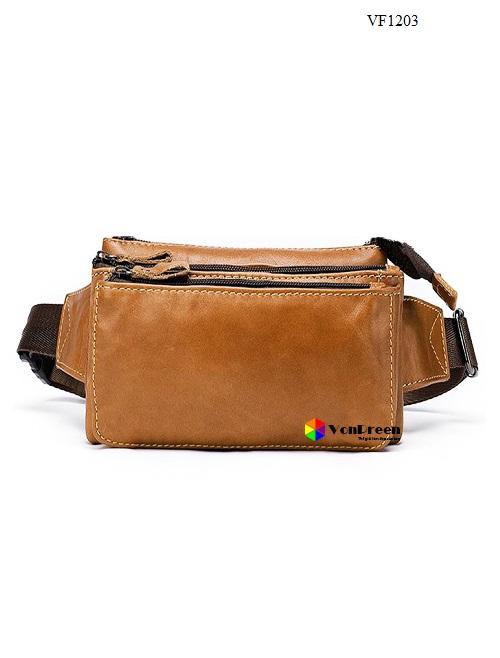 Túi đeo bụng Nam da bòVF1203 cao cấp