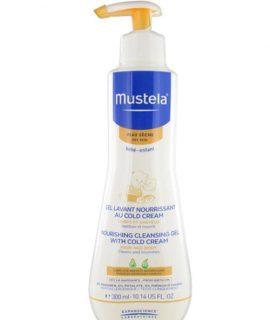 Gel tắm gội Mustala Nourishing Cleansing Gel with Cold Cream – 300ml