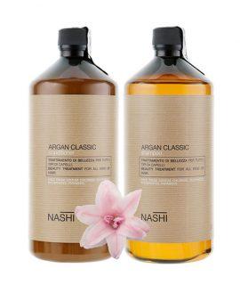 Cặp dầu gội xả phục hồi tóc Nashi Argan Classic - 1000ml